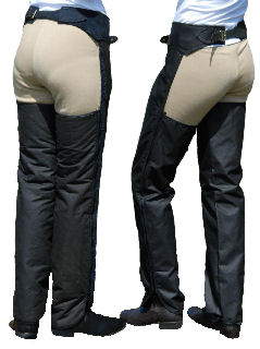 Full Chaps with Brass Buckles, Waterproof, Waxed & Cotton-Lined