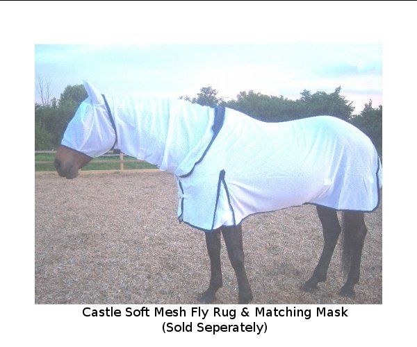 "Castle Soft Mesh Combo Fly Rug - 7'3"" only - 2 left"