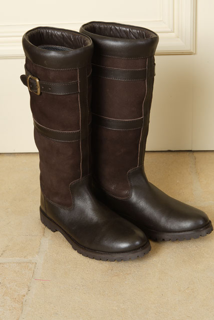 Sherwood Dalton Long Leather / Suede Country Boot - Size 5 Wide